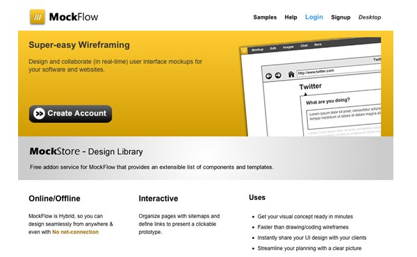 Excellent Tools for Creating Web Design Wireframes-mockflow