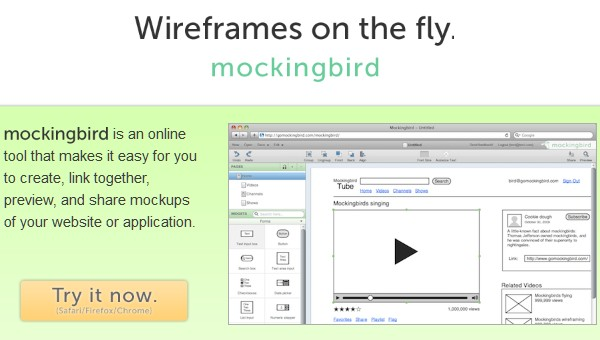 Excellent Tools for Creating Web Design Wireframes-mockingbird
