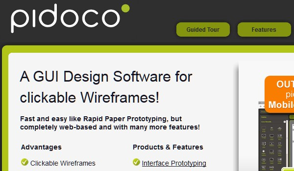 Excellent Tools for Creating Web Design Wireframes-pidoco