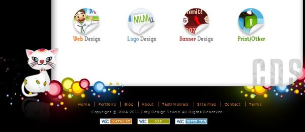Footers in Modern Web Design-catydesign