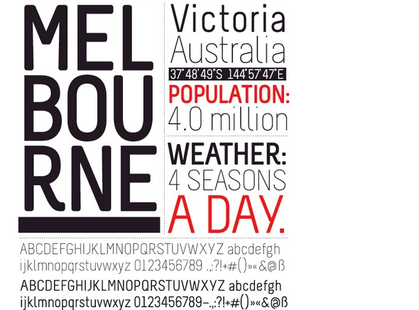 Free Fonts Of 2011-melbourne