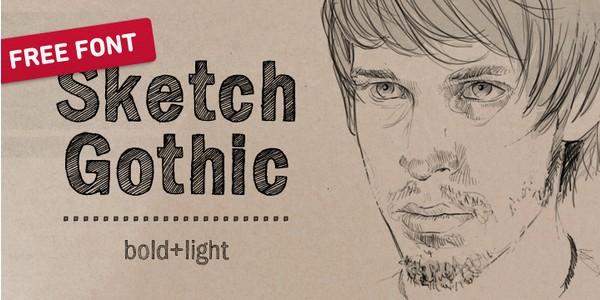 Free Fonts Of 2011-sketchgothic
