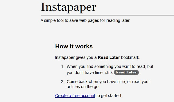 Free Web Apps for Students-instapaper