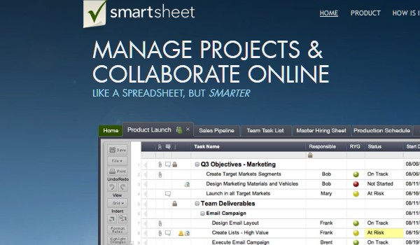 Free Web Apps for Students-smartsheet