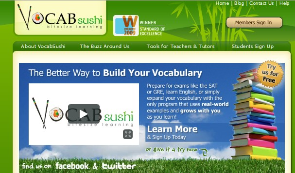 Free Web Apps for Students-vocabsushi