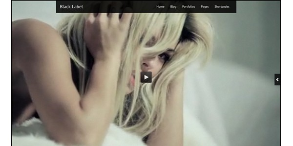 Free WordPress Video Themes-blacklabel