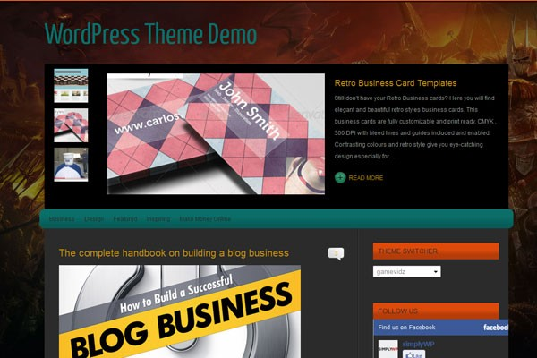 Free WordPress Video Themes-gamevids
