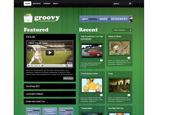 Free WordPress Video Themes-groovyvideo