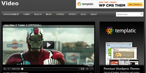 Free WordPress Video Themes-video