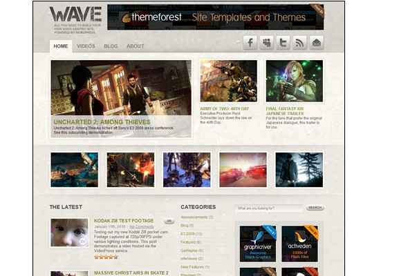 Free WordPress Video Themes-wave