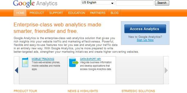 Google Website Tools for Developer-googleanalytics