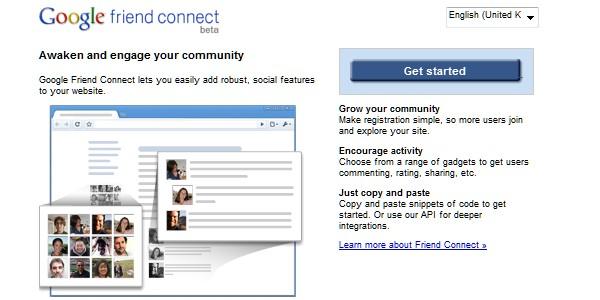 Google Website Tools for Developer-googlefriendconnect