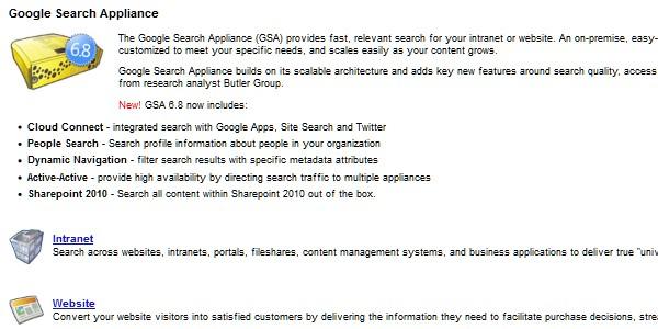 Google Website Tools for Developer-googlesearchappliance