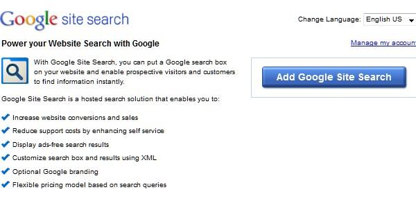 Google Website Tools for Developer-googlesitesearch