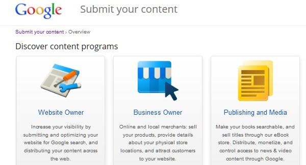 Google Website Tools for Developer-googlesubmityourcontent