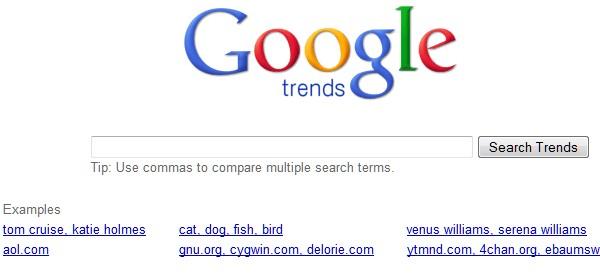 Google Website Tools for Developer-googletrends