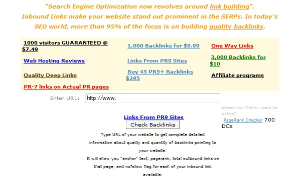 Internet Marketing Tools for every Serious Webmaster-backlink