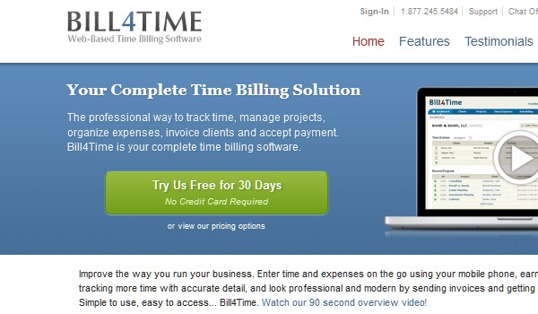 Invoicing Tools For Freelancers-bill4time