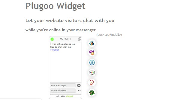 Most Useful Chat Widgets and Chat Client Tools-plugoo