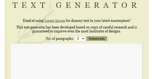 Online Lorem Ipsum Generators-textgenerator