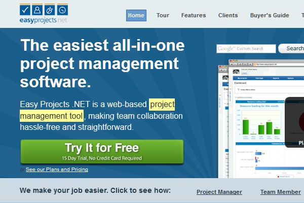 Project Management Apps for Freelancers and Designers-easyproject