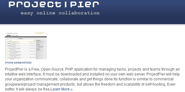 Project Management Apps for Freelancers and Designers-projectpier