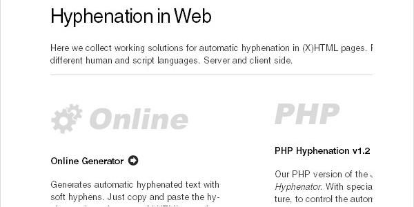 Really Useful JavaScript Tutorials-hyphenationinweb