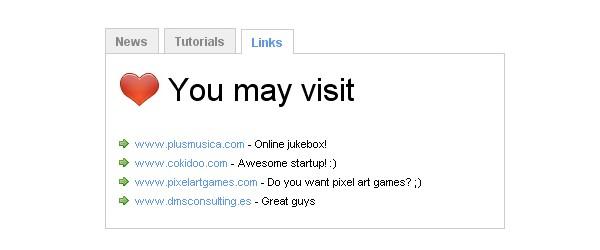 Really Useful JavaScript Tutorials-tabbedmenu