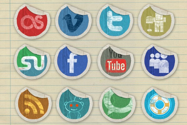 Social Media Icon Packs-grungepeelingicons