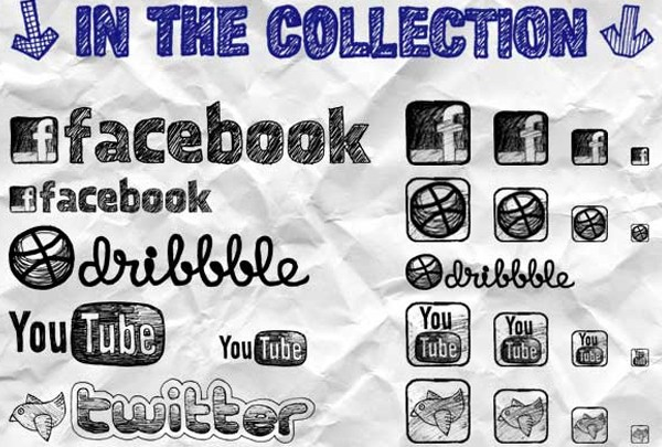 Social Media Icon Packs-sketchysocialmedia