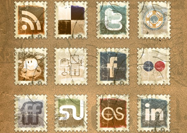 Social Media Icon Packs-vintagestamp