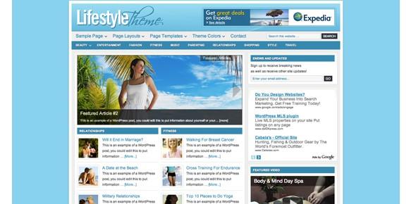 Travel WordPress Themes-lifestyle