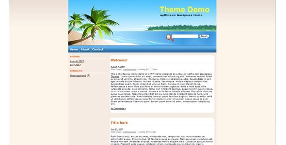 Travel WordPress Themes-tropicalisland