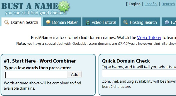 Useful Tools for Searching the Perfect Domain Name-bustaname