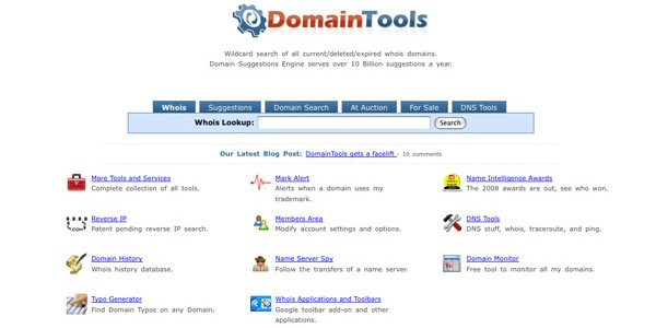 Useful Tools for Searching the Perfect Domain Name-domaintools