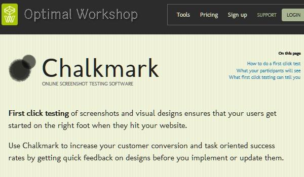 Web Usability Testing Tool-chalkmark