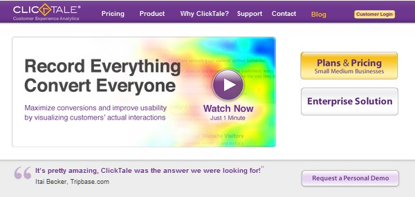Web Usability Testing Tool-clicktale