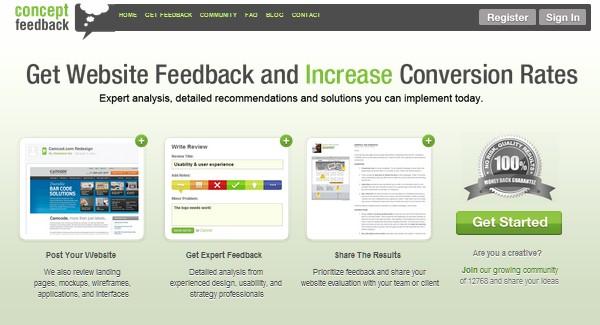 Web Usability Testing Tool-conceptfeedback