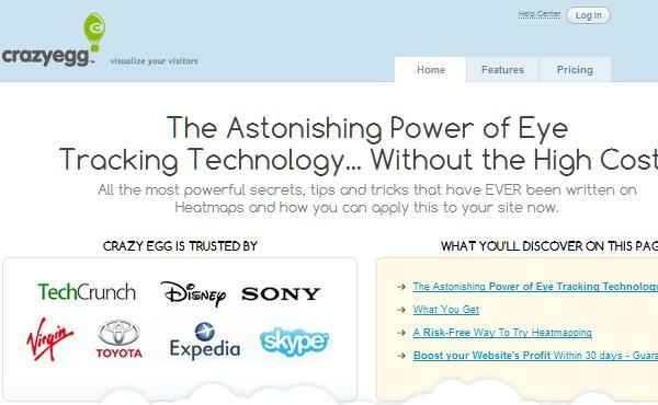 Web Usability Testing Tool-crazyegg