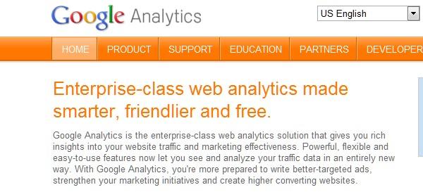 Web Usability Testing Tool-googleanalytics