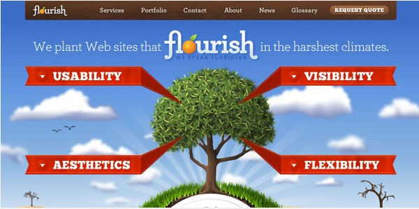 Websites with Parallax Scrolling-floridaflourish