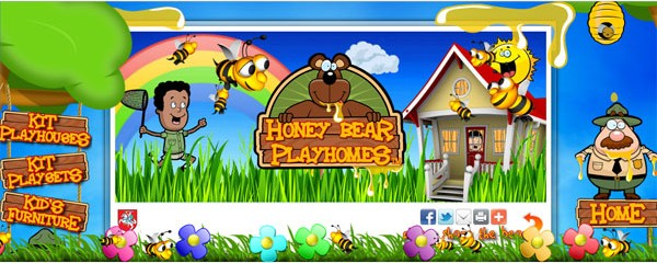 Websites with Parallax Scrolling-honeybearplayhomes