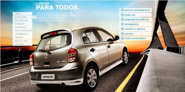 Websites with Parallax Scrolling-nissan