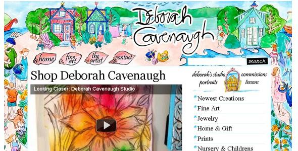 creative website headers-deborahcavenaugh