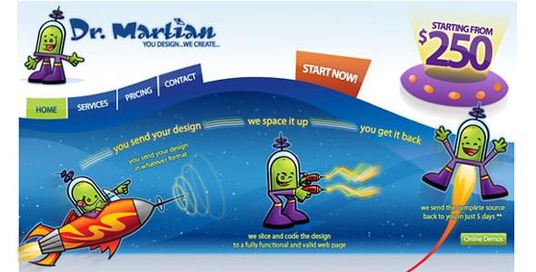 creative website headers-drmartian