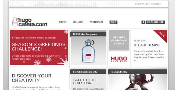 creative website headers-hugocreate