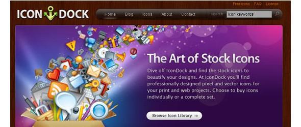 creative website headers-icondock