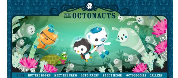 creative website headers-octonauts