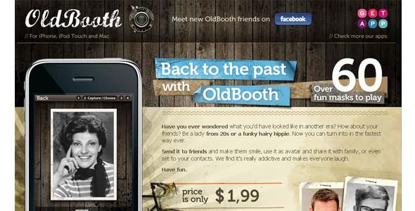 creative website headers-oldbooth