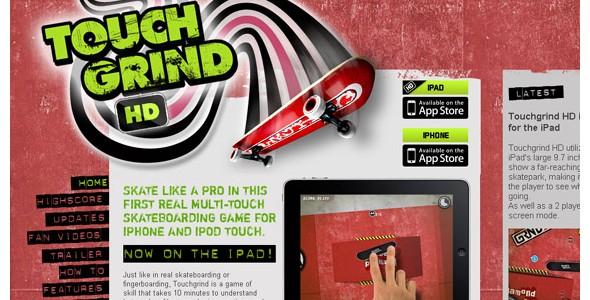 creative website headers-touchgrind